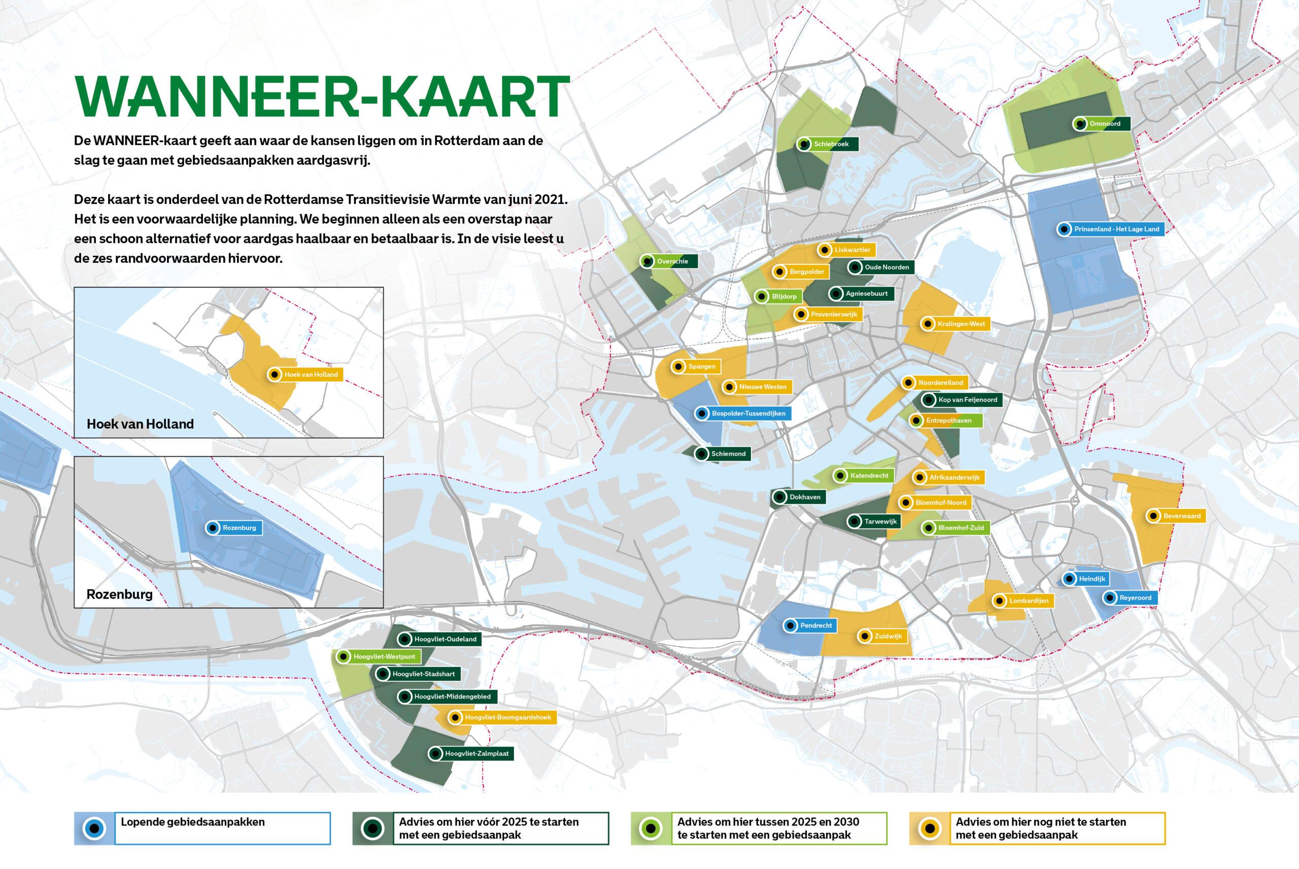 WANNEER-kaart: welke wijken zouden wanneer aardgasvrij kunnen worden?