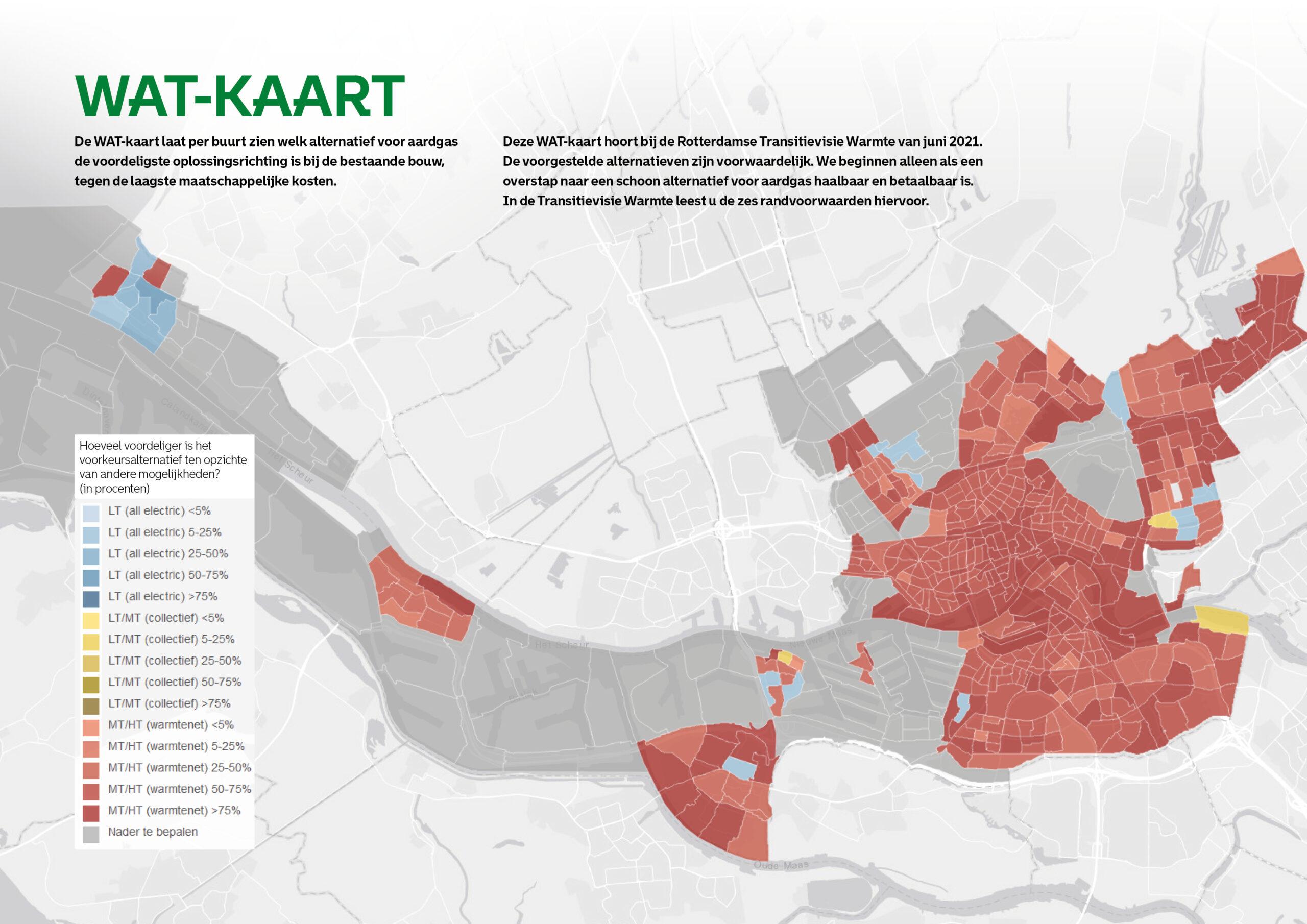 De WAT-kaart: welke aardgasvrije oplossing is het voordeligst per wijk?