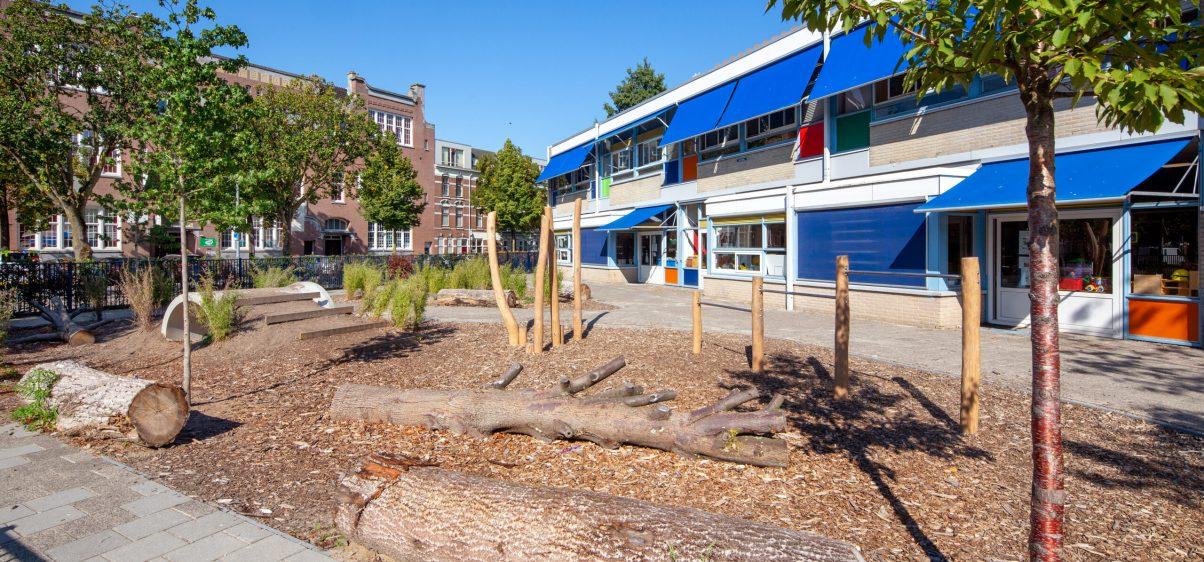 Groenblauw schoolplein Agnesschool_ 01_Arnoud Verhey