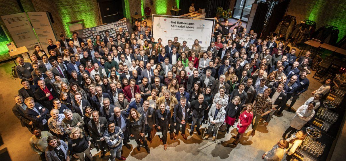Groepsfoto Rotterdams Klimaatakkoord 22nov2019